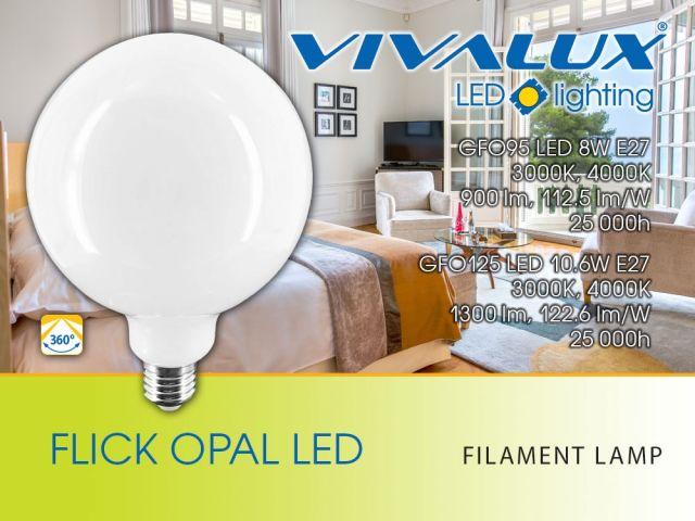 Нови LED филамент лампи FLICK OPAL LED