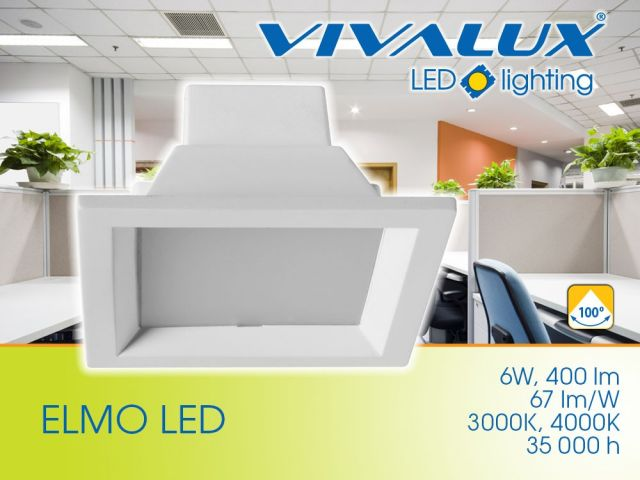 The square downlight ELMO LED 6W – formula for excellent illumination